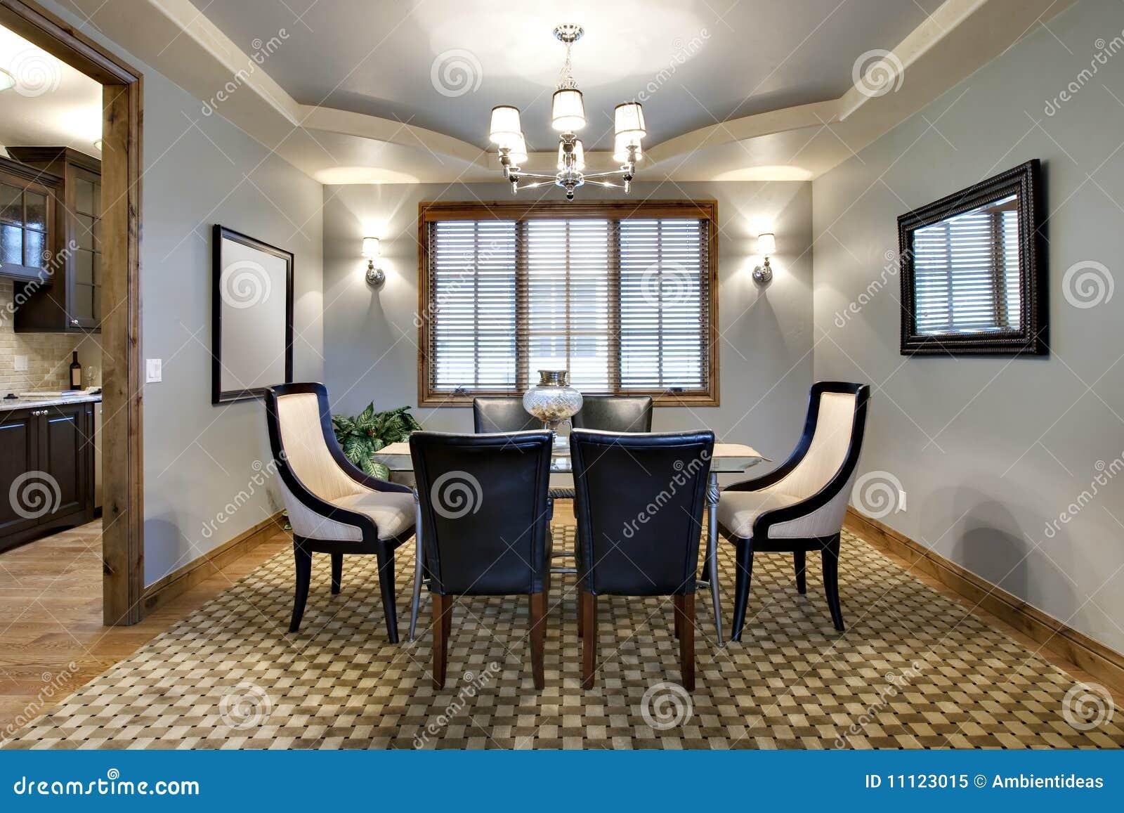 Sala da pranzo contemporanea immagine stock immagine di stanza chandelier 11123015 - Stanza da pranzo contemporanea ...