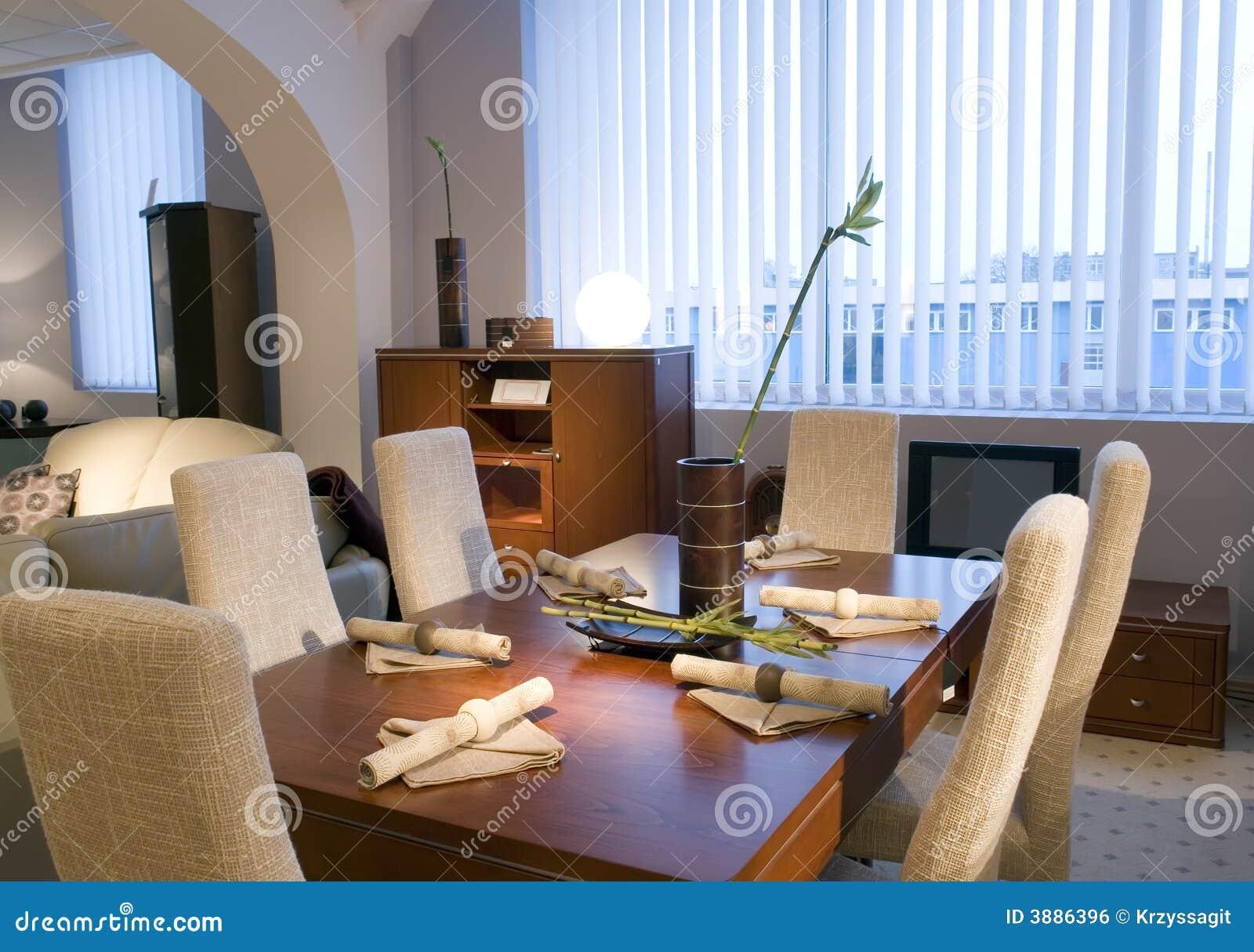 Sala da pranzo contemporanea immagine stock libera da for Camera da pranzo contemporanea