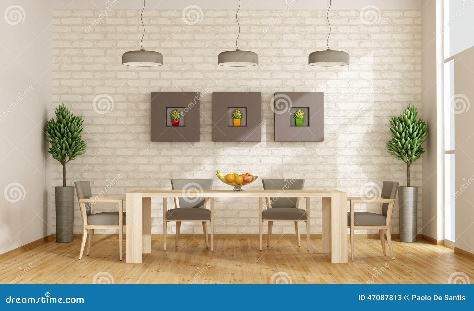 Sala da pranzo contemporanea illustrazione di stock for Tavola sala da pranzo
