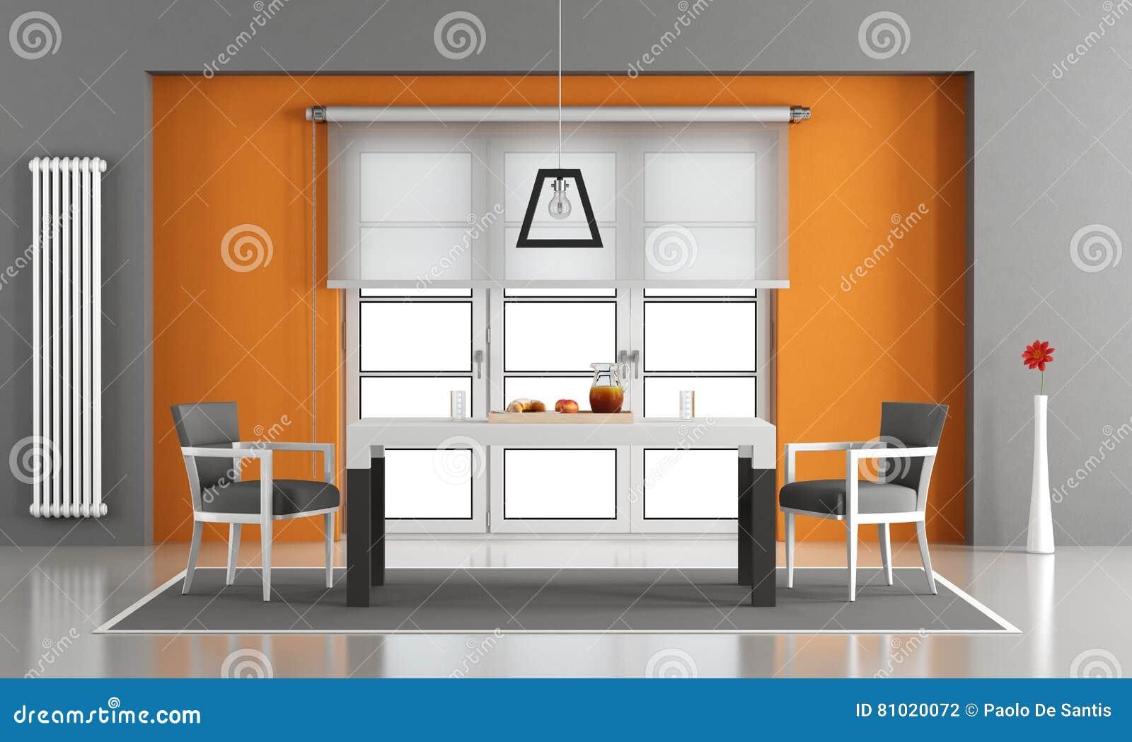 Sala Da Pranzo Contemporanea : Sala da pranzo contemporanea illustrazione di stock