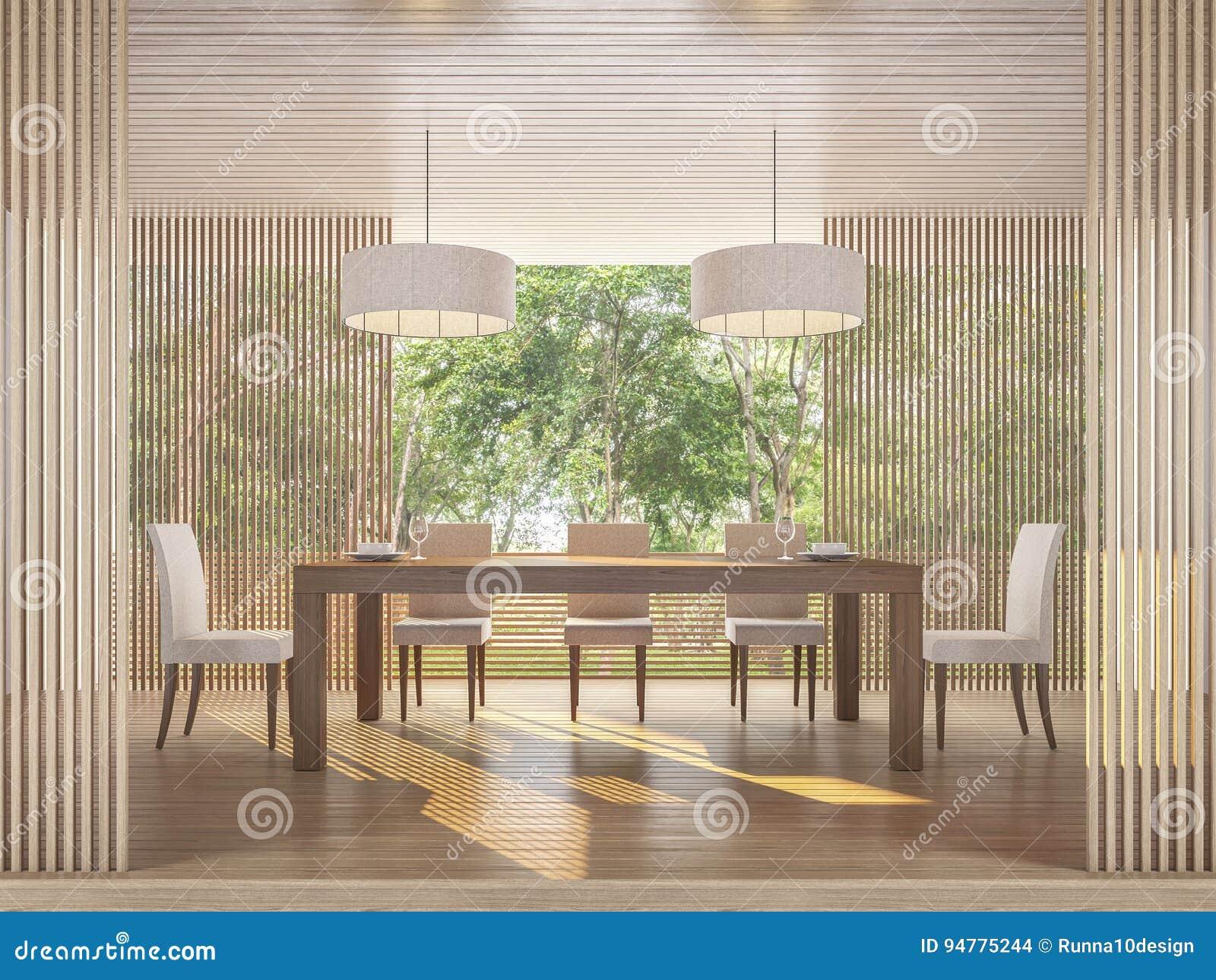 Sala Da Pranzo Contemporanea : Sala da pranzo contemporanea moderna con l immagine della