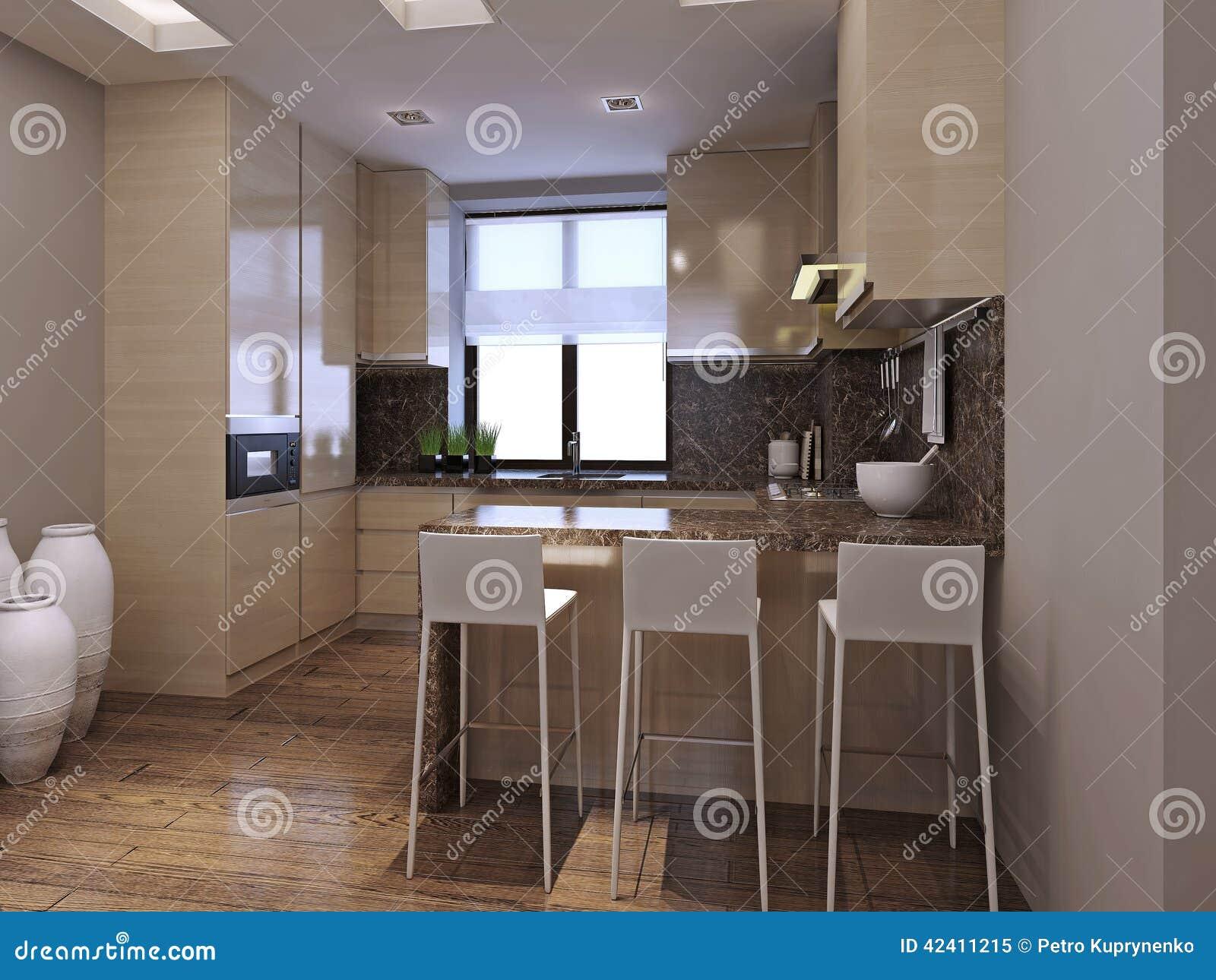 Sala Da Pranzo Della Cucina Nello Stile Moderno