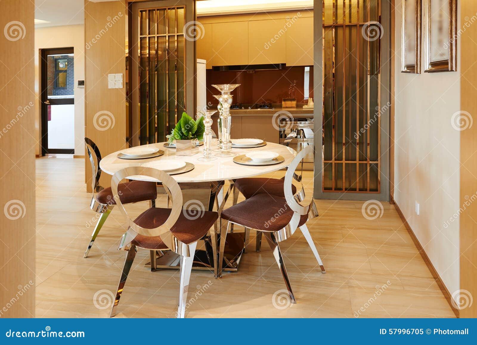 Sala da pranzo e cucina moderne immagine stock immagine di
