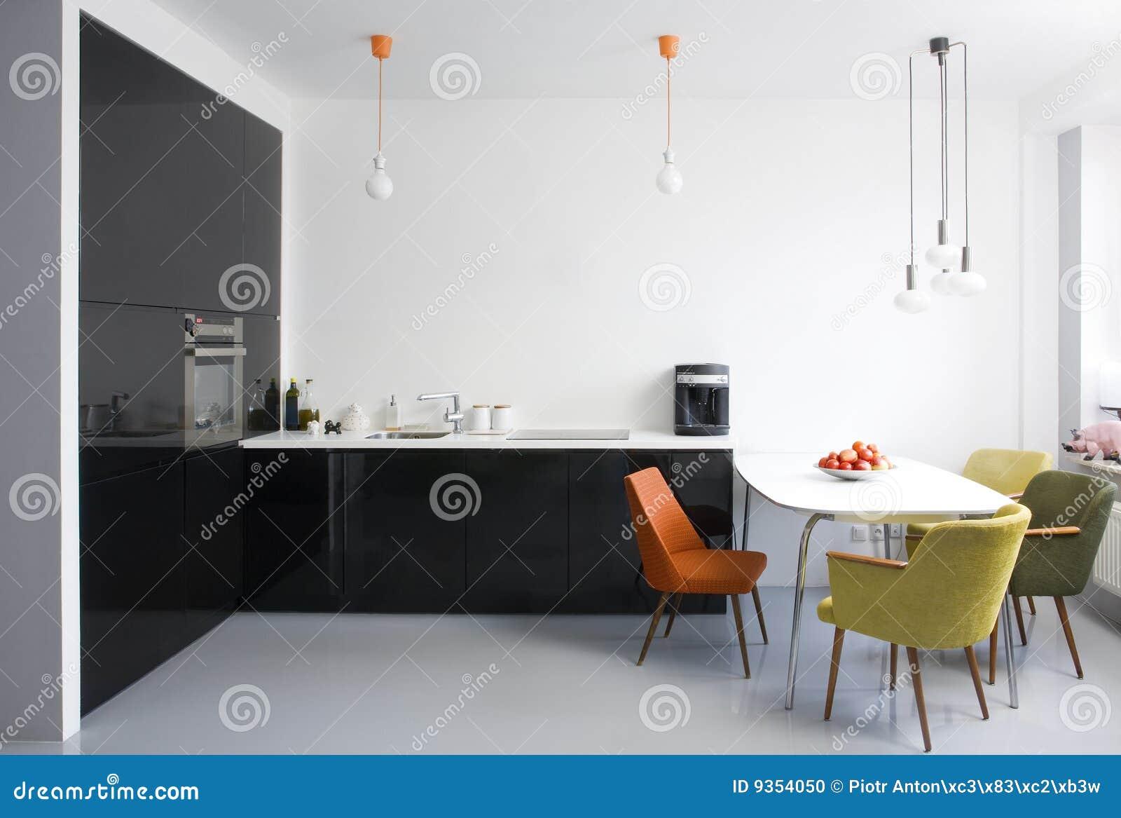 Sala da pranzo e cucina moderne