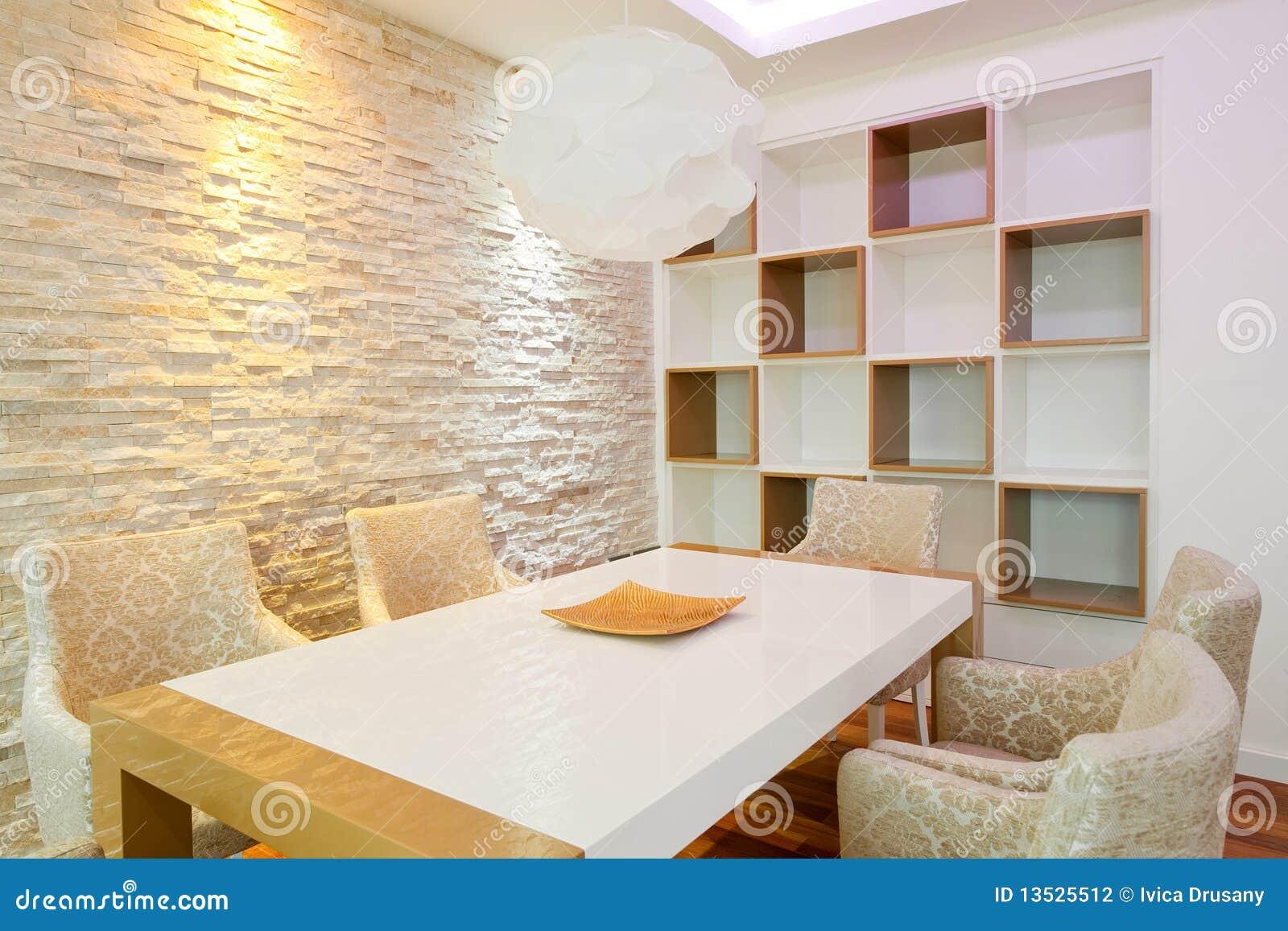 Sala da pranzo moderna fotografia stock. Immagine di parete - 13525512