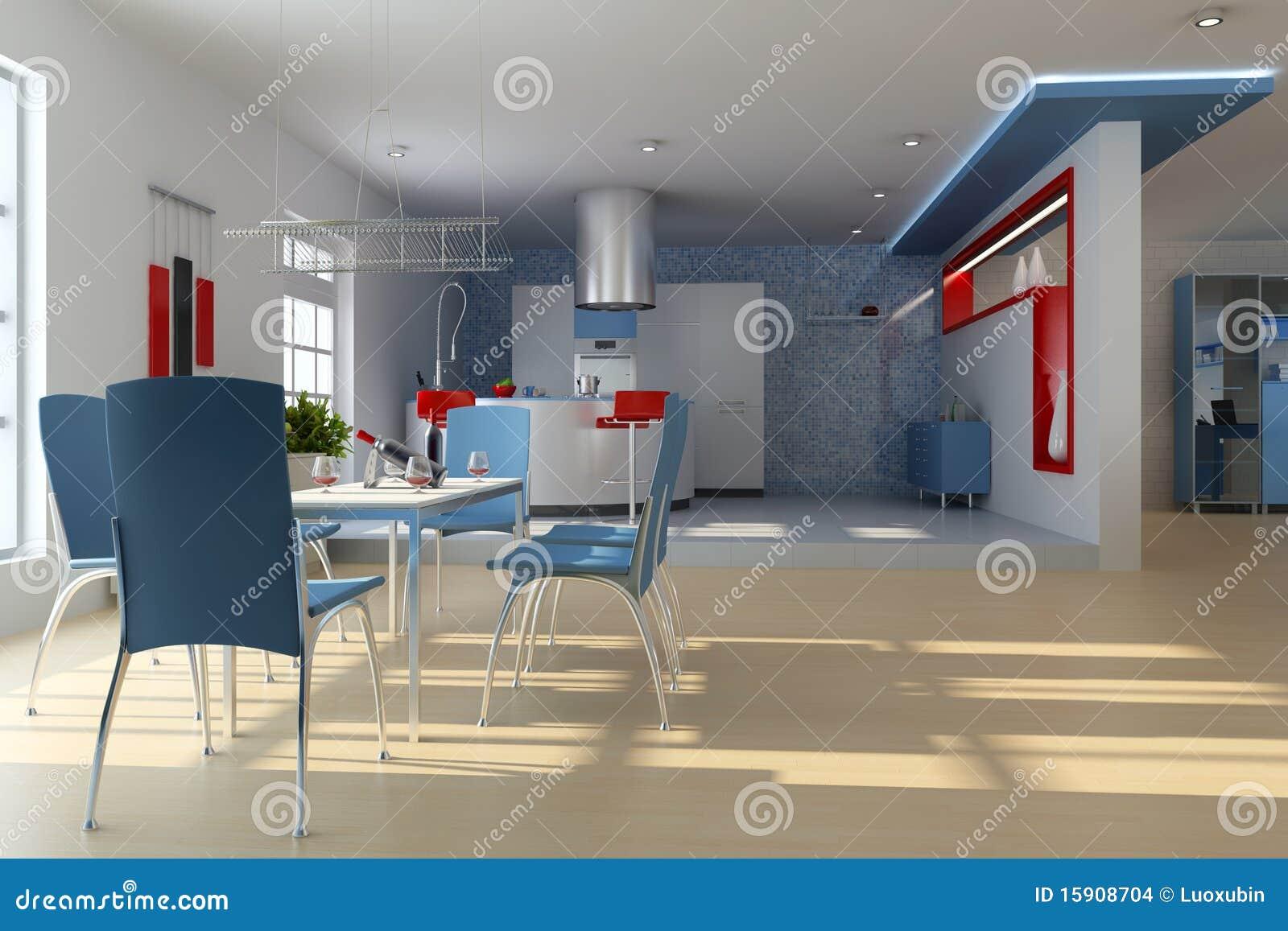 Sala Da Pranzo Moderna Immagini Stock Immagine: 15908704 #811F1E 1300 957 La Cucina Disegni Per Bambini