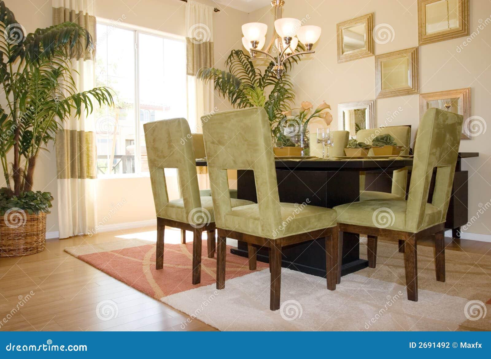 Sala da pranzo moderna fotografia stock immagine di for Stanza da pranzo moderna