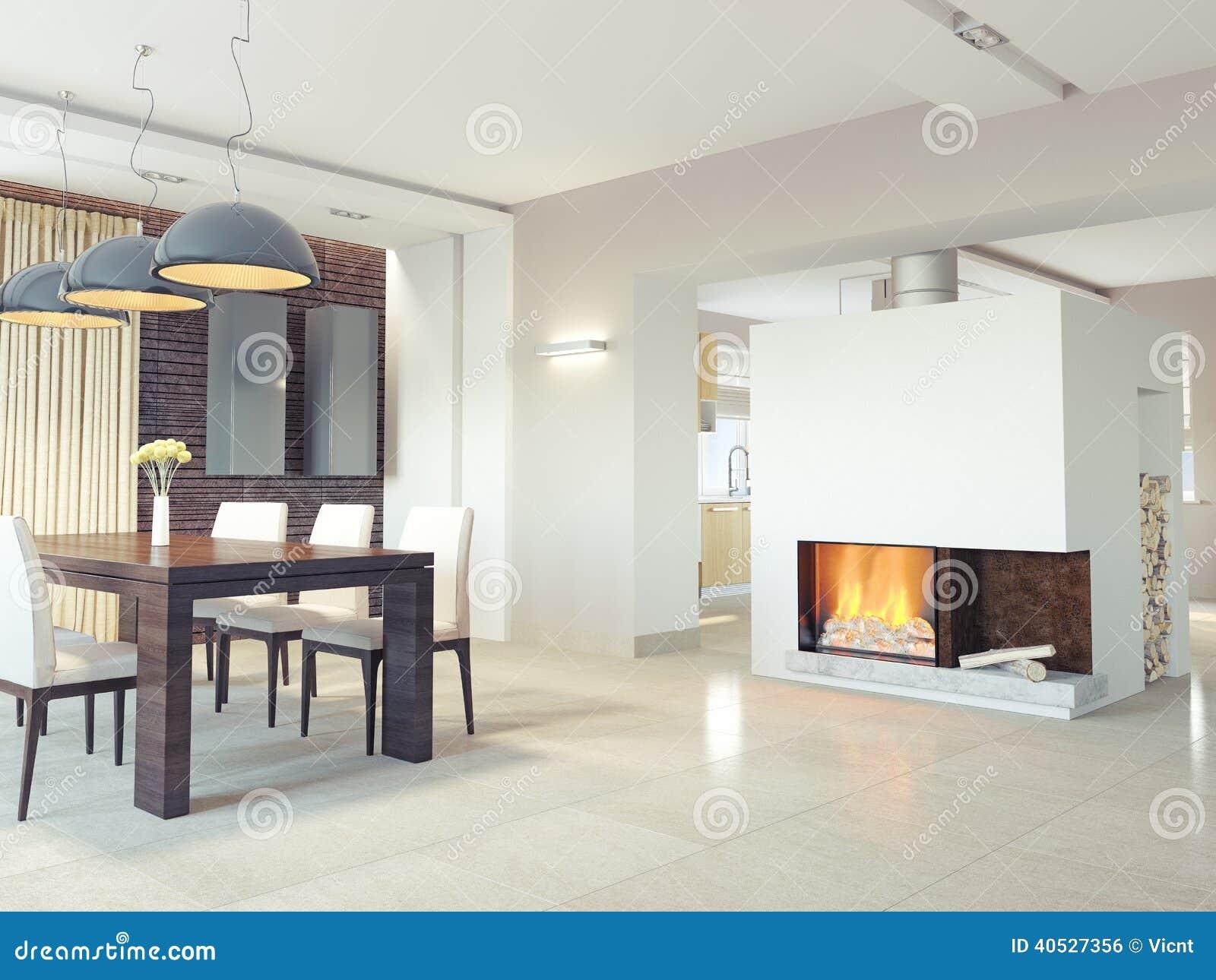 Sala Da Pranzo Moderna Illustrazione Di Stock Immagine: 40527356 #A55F26 1300 1065 Sala Da Pranzo Arte Contemporanea