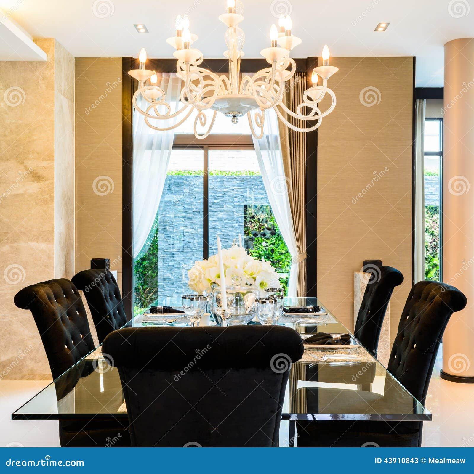 Sala da pranzo moderna immagine stock. Immagine di parete ...