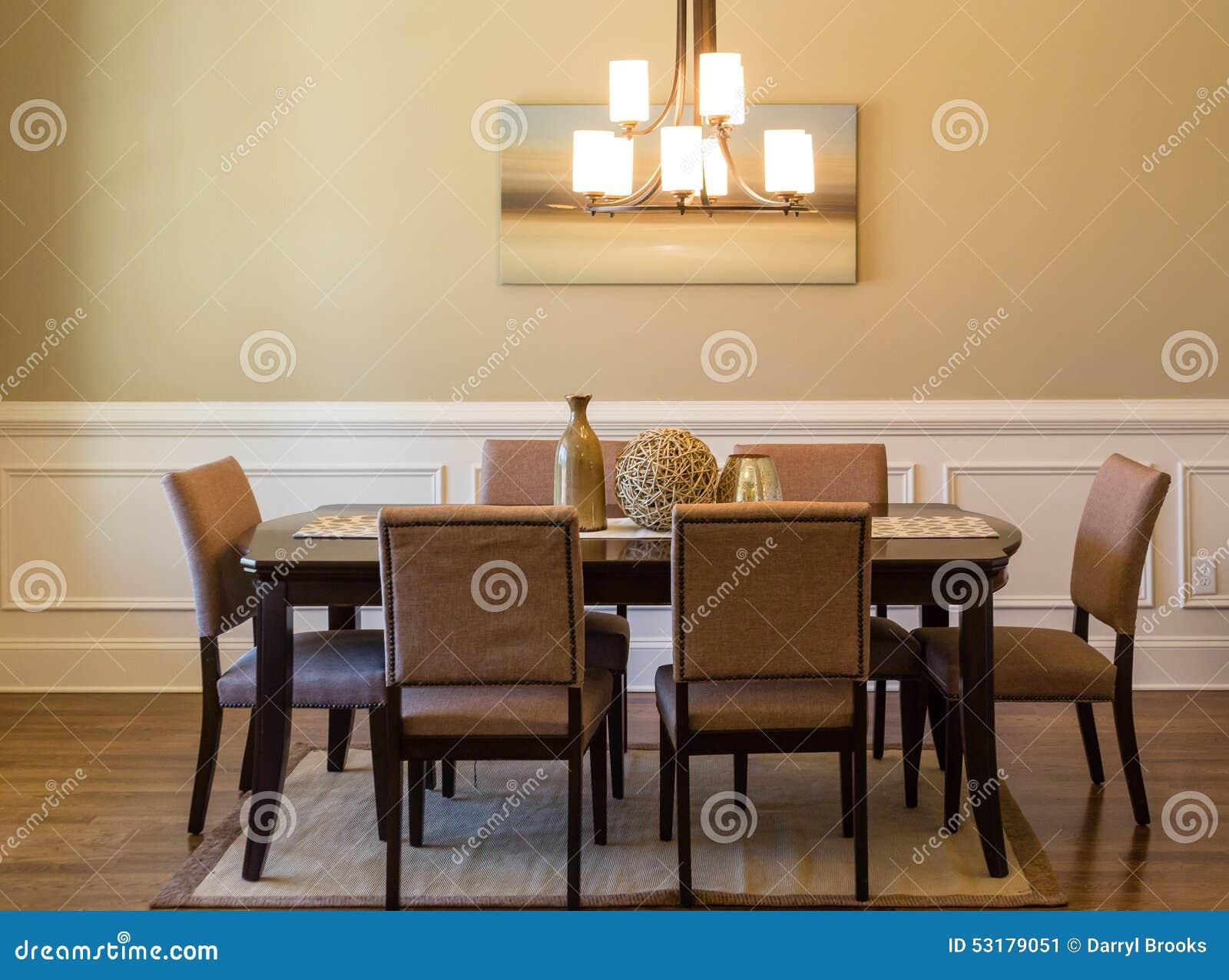 Sala da pranzo moderna fotografia stock immagine 53179051 - Stanza da pranzo moderna ...
