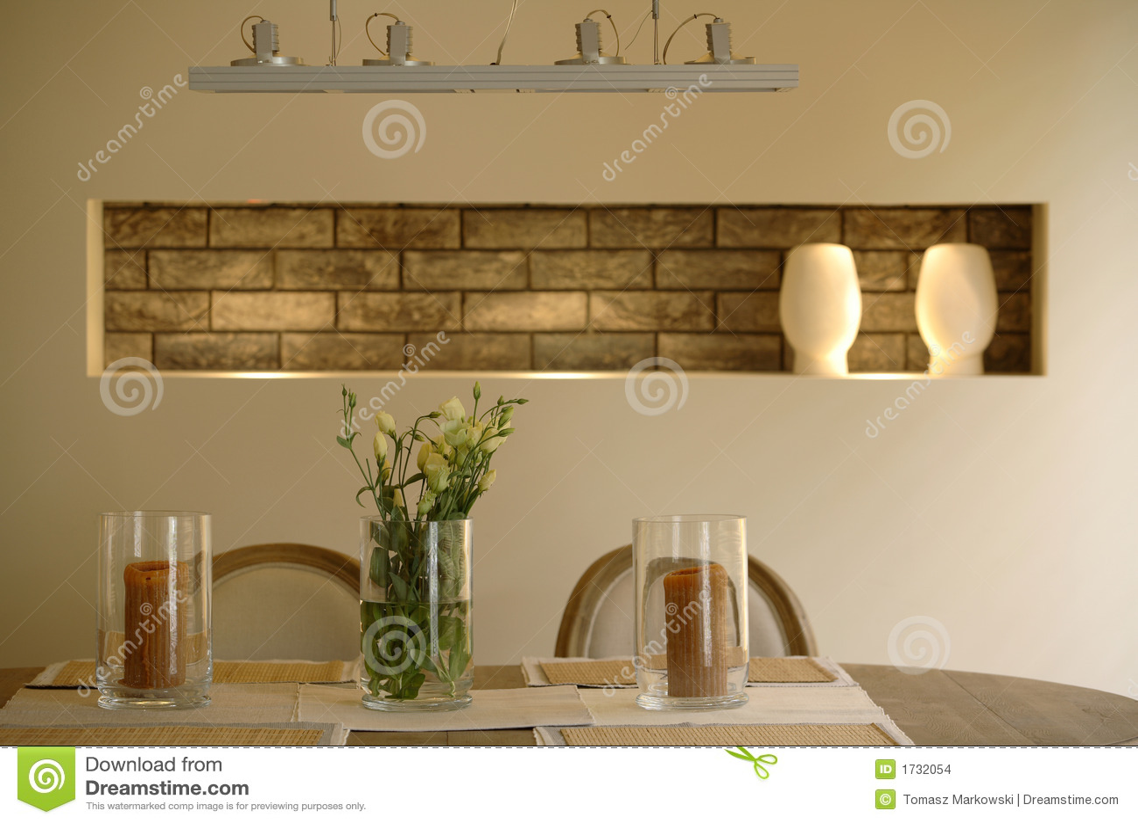 Sala Da Pranzo Moderna Dell'appartamento Immagini Stock Immagine  #412D0C 1300 957 Sala Da Pranzo Arte Contemporanea