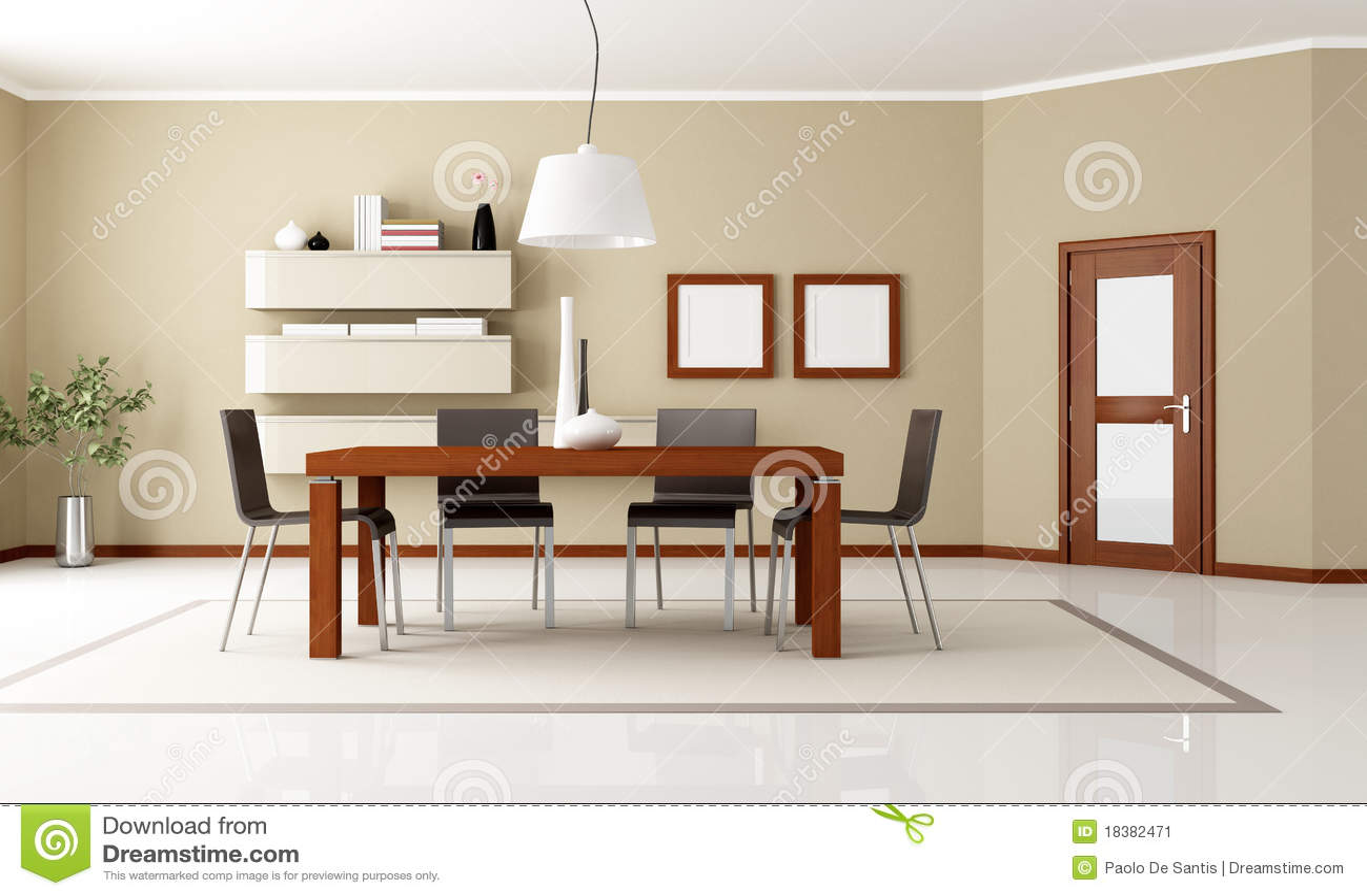 Sala Da Pranzo Moderna Elegante Immagine Stock Immagine: 18382471 #85A724 1300 869 Sala Da Pranzo Arte Contemporanea