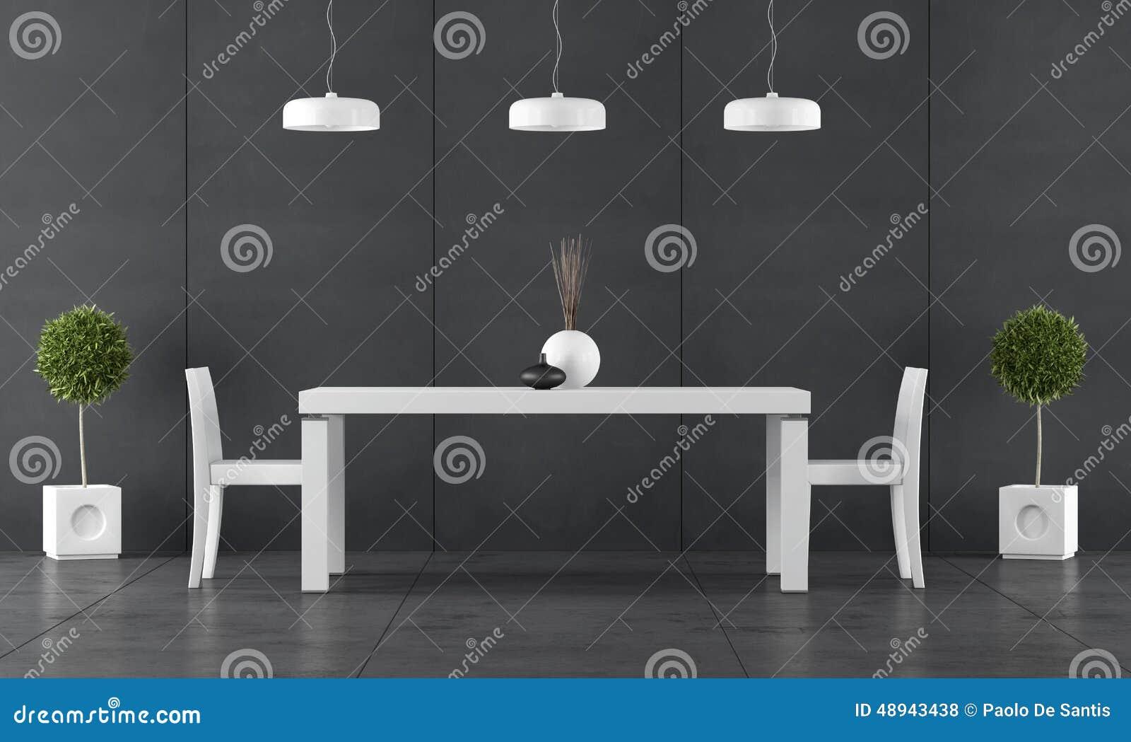 sala da pranzo nera con l 39 incorniciatura della lavagna
