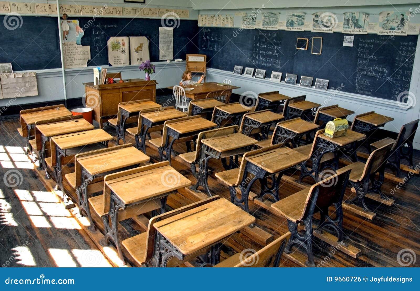 Sala de aula da velha escola