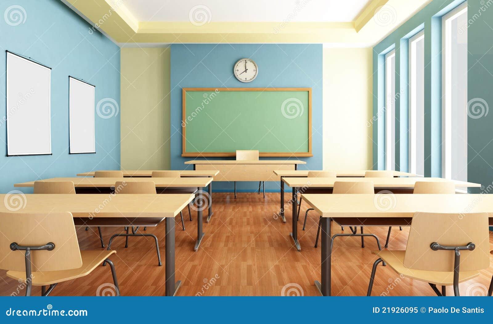 Z Classroom Design : Sala de clase vacía foto archivo libre regalías