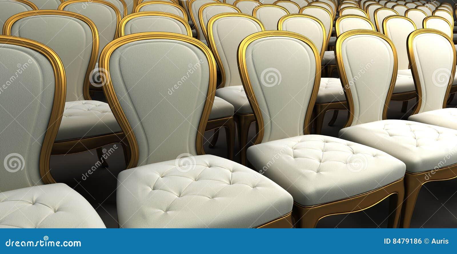 Sala de concertos com assento branco