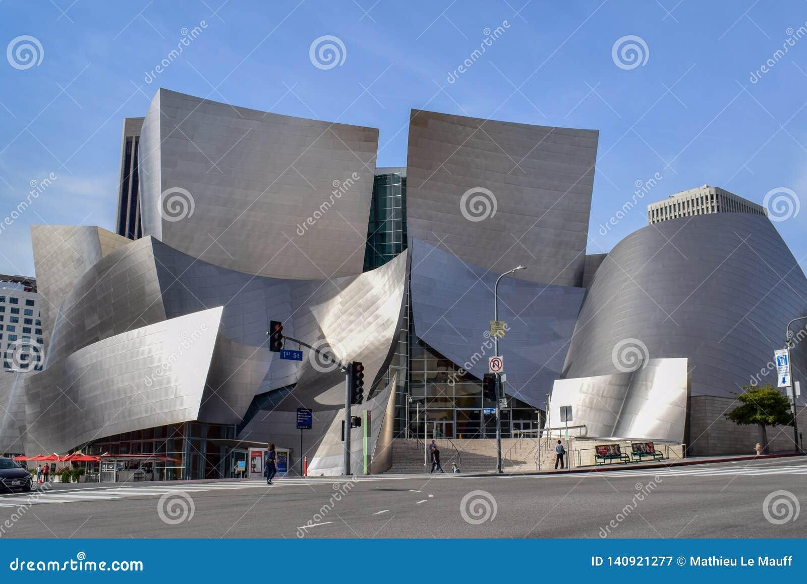 Sala de concertos de Walt Disney em Los Angeles do centro