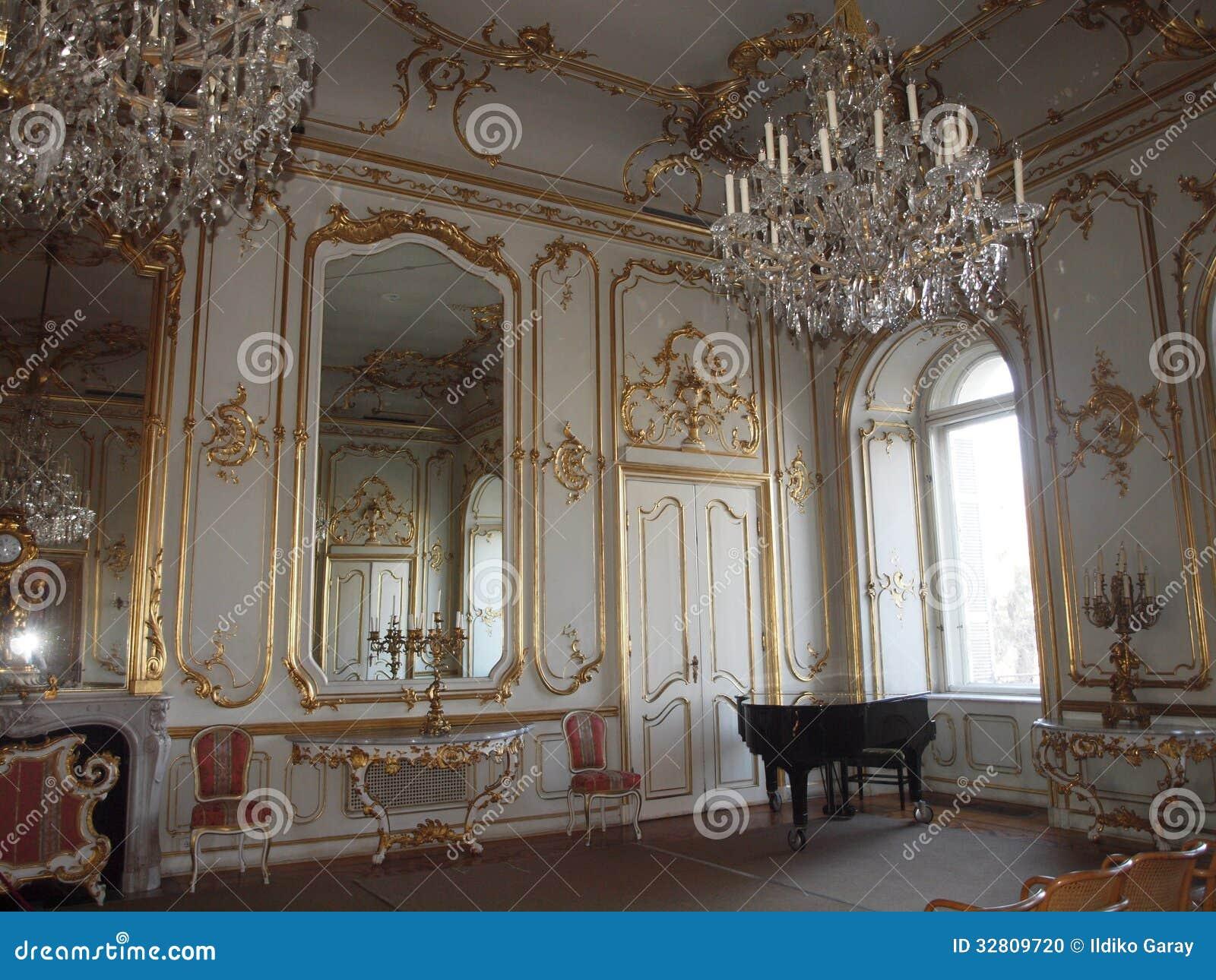 Sala de conciertos en el palacio de Festetics, Keszthely, Hungría