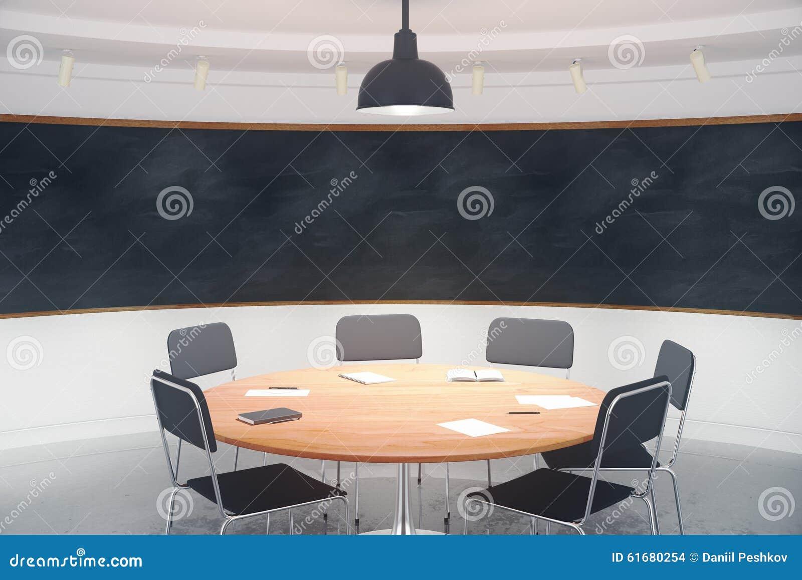 Sala De Conferencias Moderna Con Muebles Y La Pizarra En Blanco En  # Muebles Pizarra