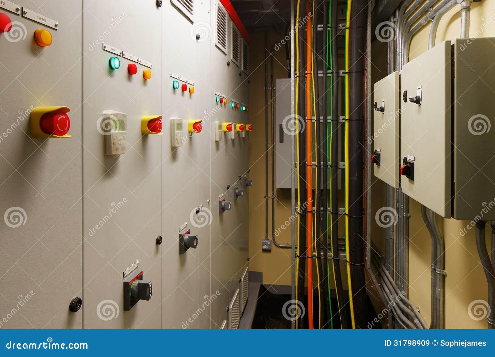 Sala de control eléctrica mecánica