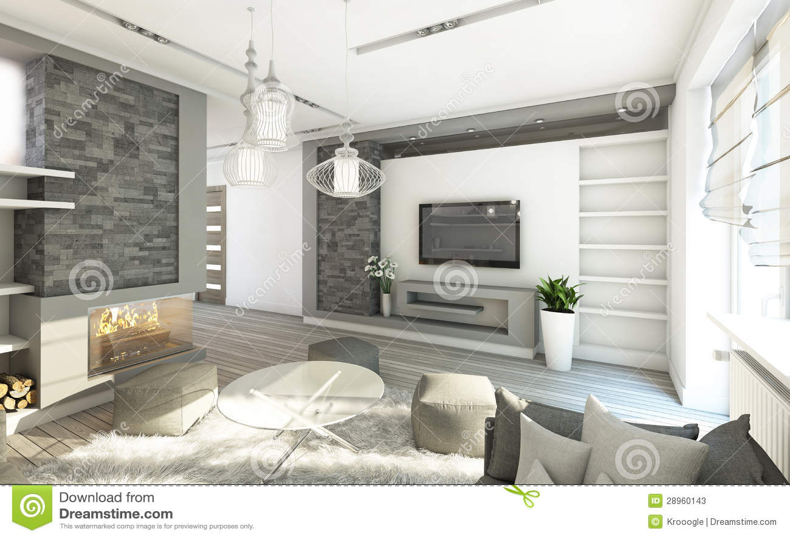 Sala De Estar Gris ~ Sala de estar gris y blanca