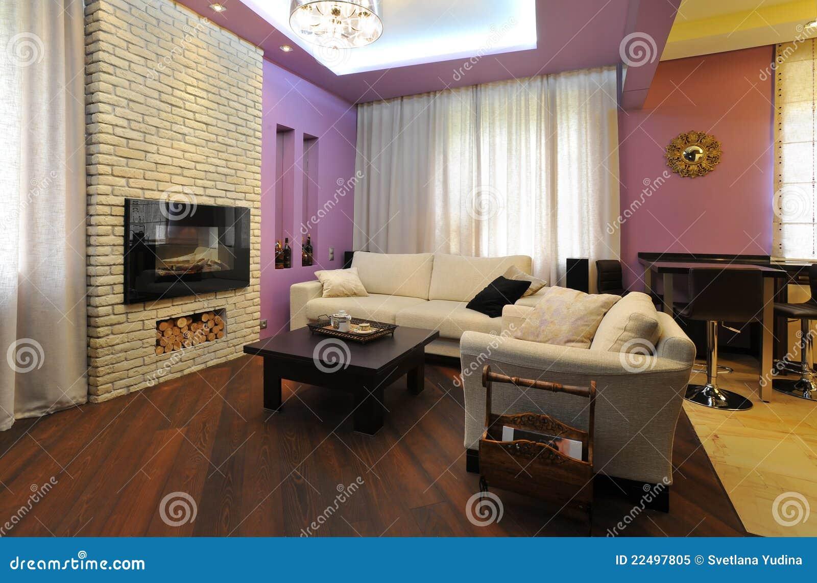 Sala de estar acogedora foto de archivo libre de regal as for Salas de estar acogedoras