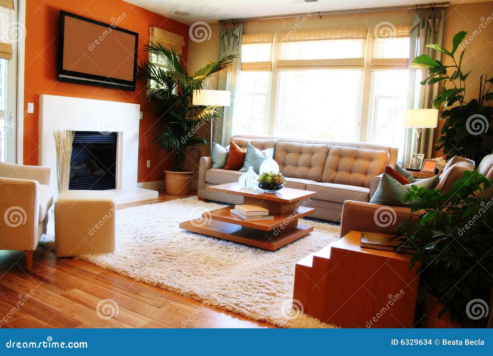 Sala de estar acogedora imagenes de archivo imagen 6329634 for Sala de estar con tv