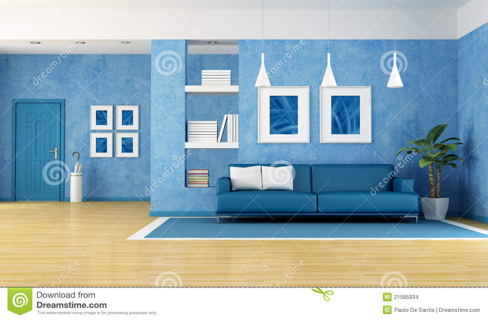 Sala De Estar En Azul ~ Sala De Estar Azul Imagenes de archivo  Imagen 21585934