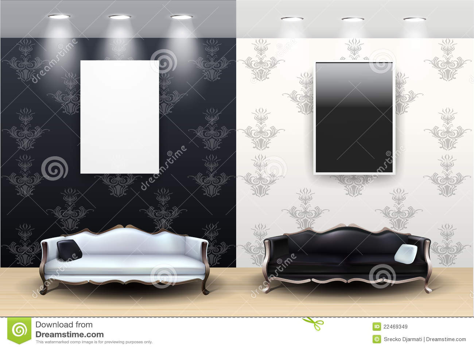 Sala de estar blanco y negro im genes de archivo libres de for Sala de estar blanco y negro