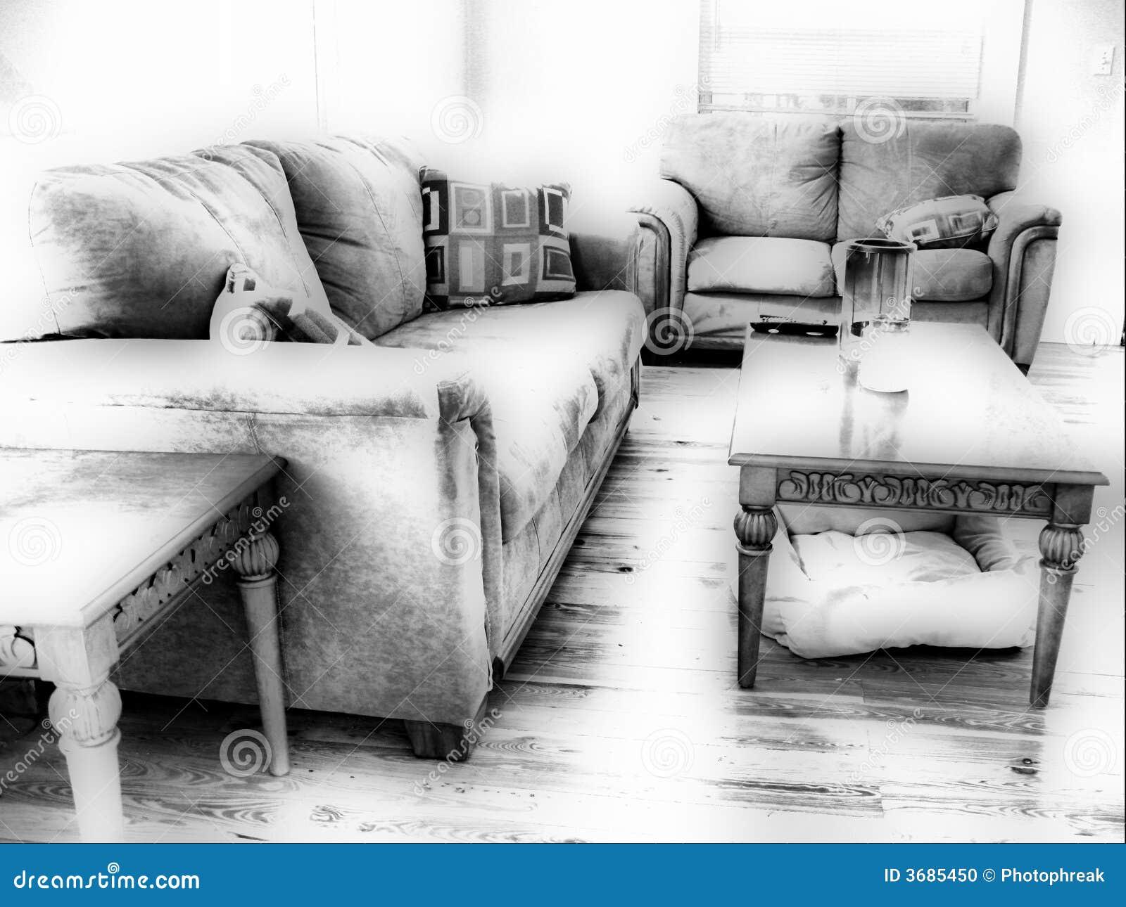 Sala de estar blanco y negro foto de archivo imagen 3685450 for Sala de estar blanco y negro