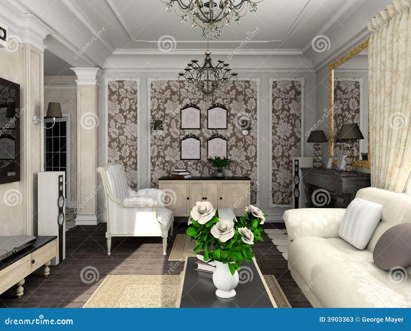Sala de estar con los muebles cl sicos for Muebles industriales sala de estar