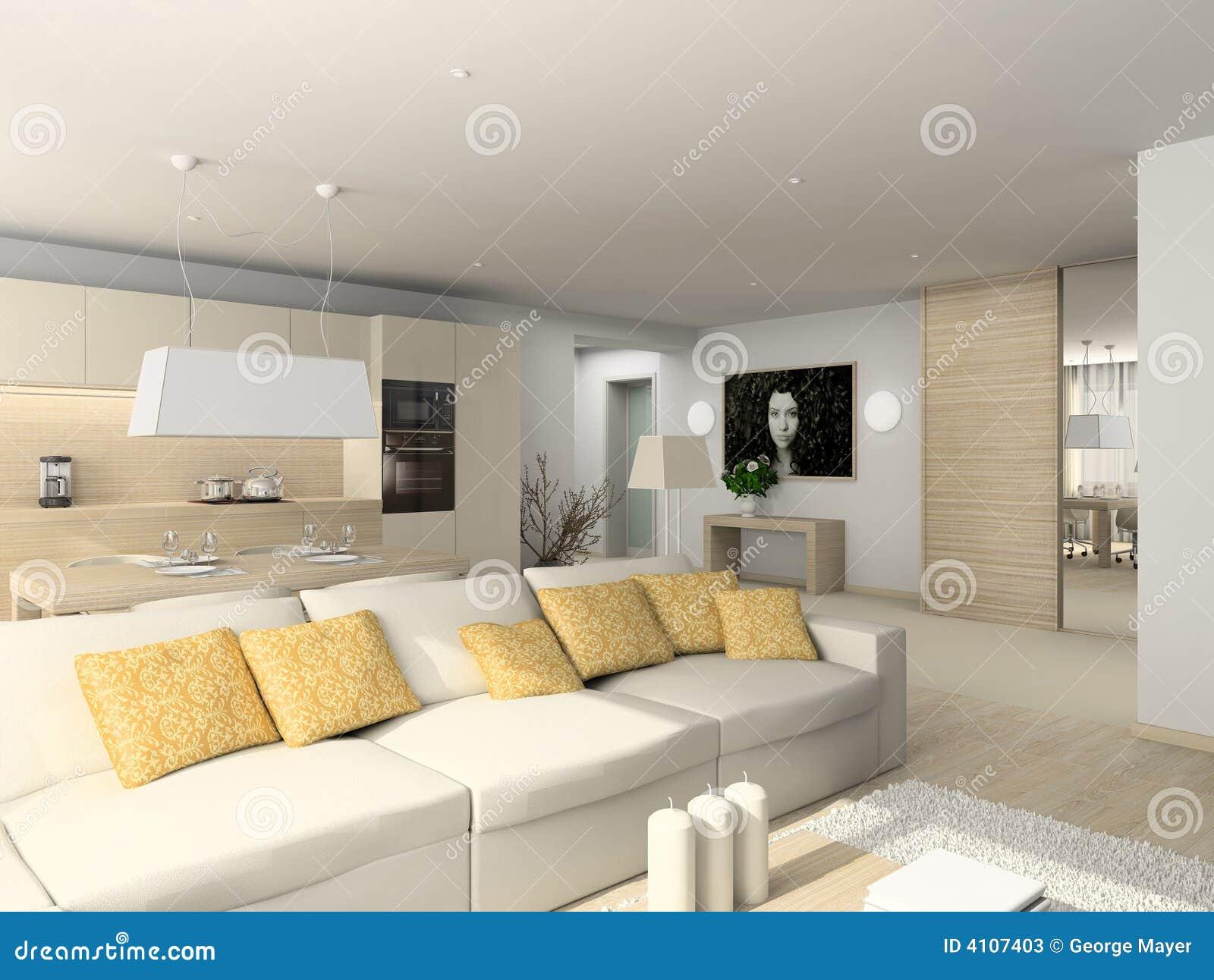 Sala de estar con los muebles modernos fotos de archivo - Muebles de salita de estar ...