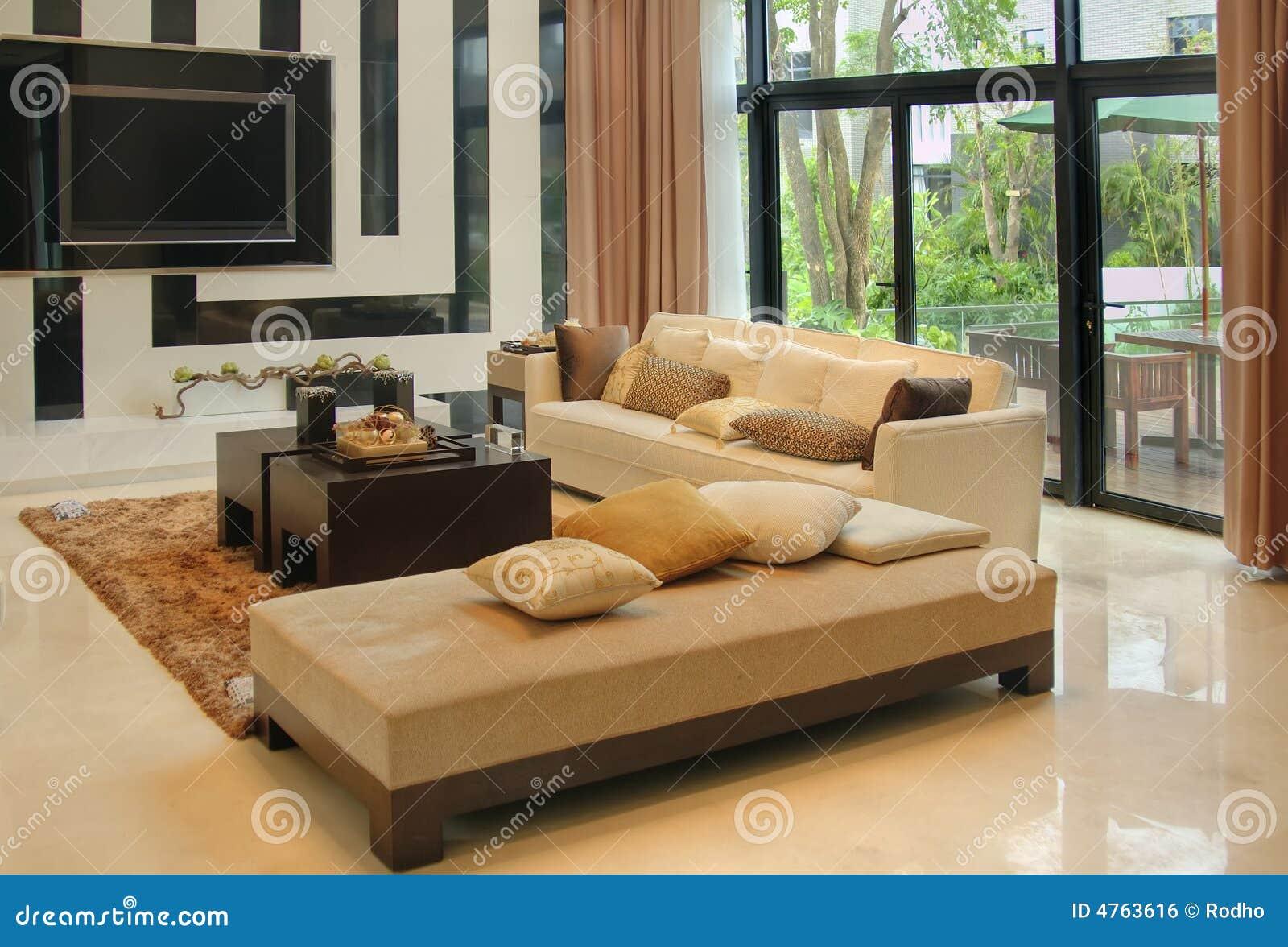 Sala de estar con los muebles modernos imagen de archivo - Muebles sala de estar ...