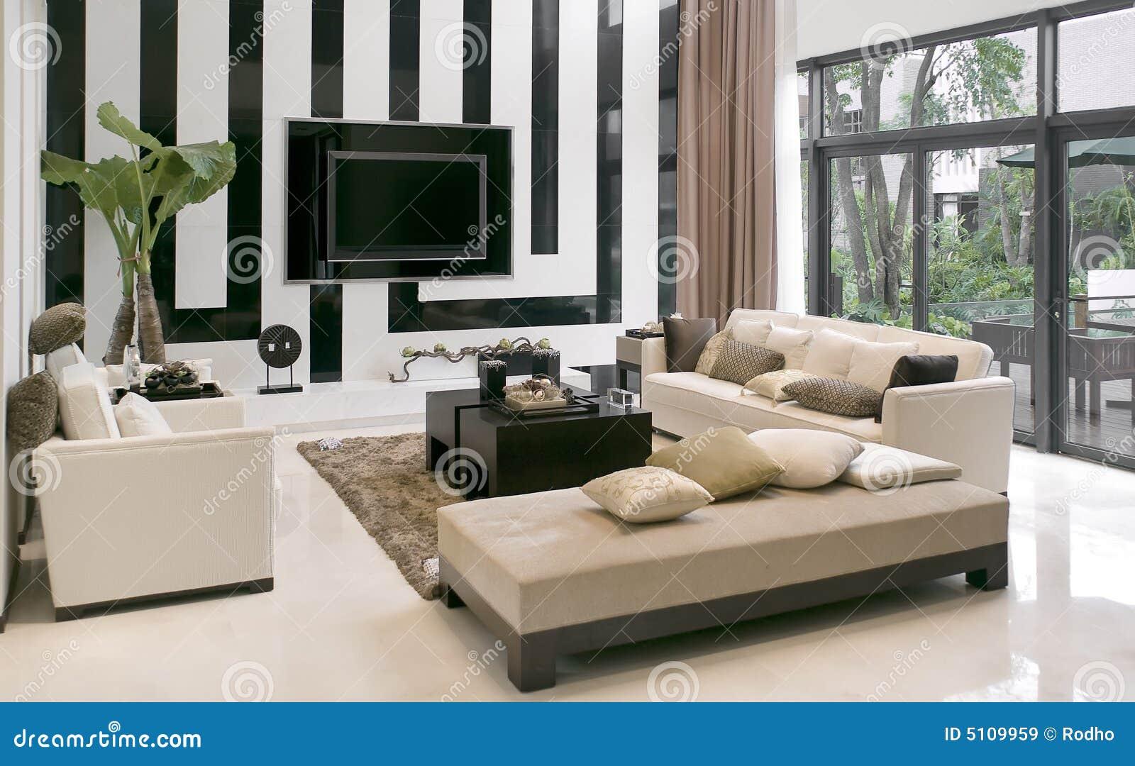 Sala De Estar Con Los Muebles Modernos Imagen De Archivo Imagen  # Muebles Modernos