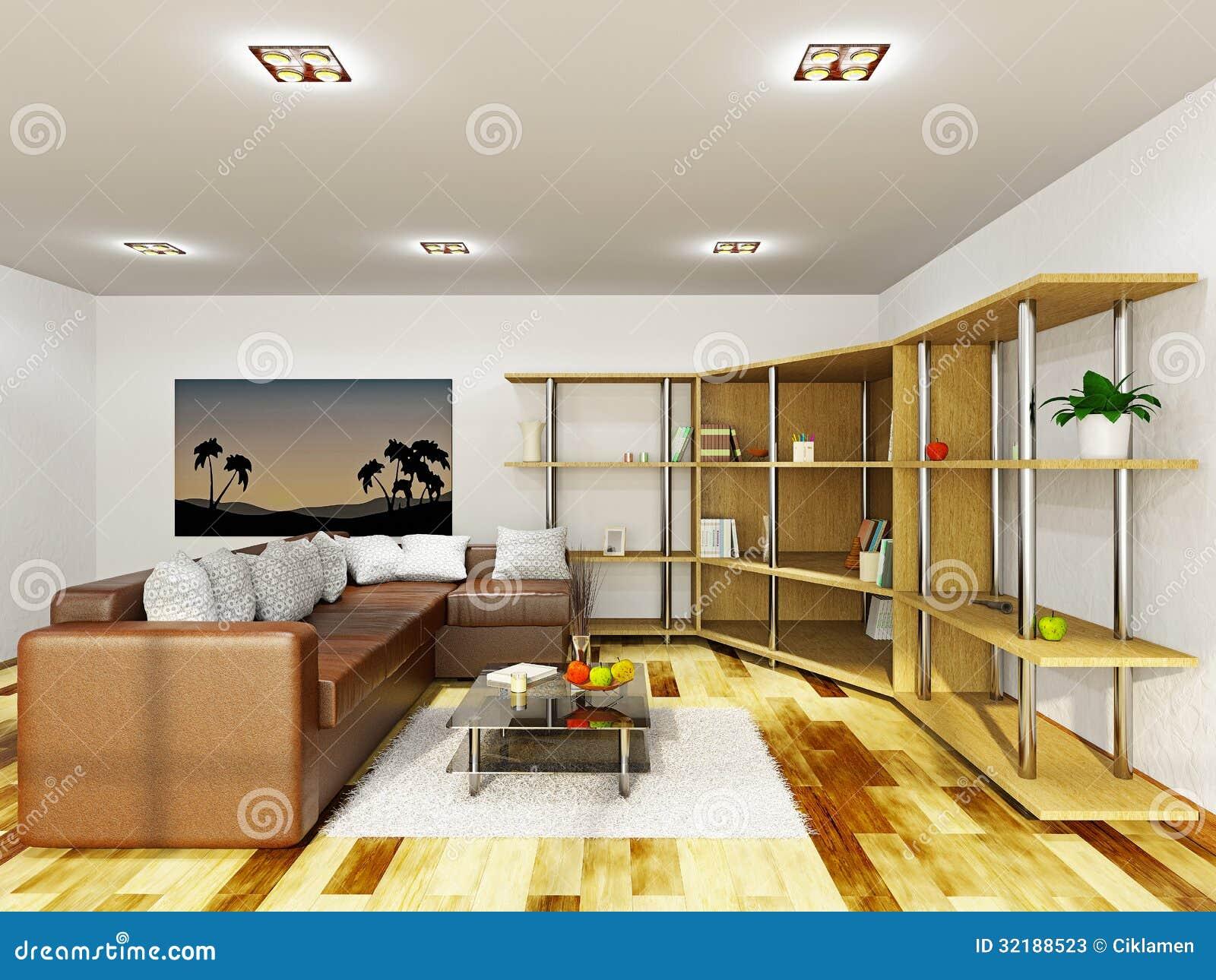 Sala de estar con muebles stock de ilustraci n for Muebles industriales sala de estar