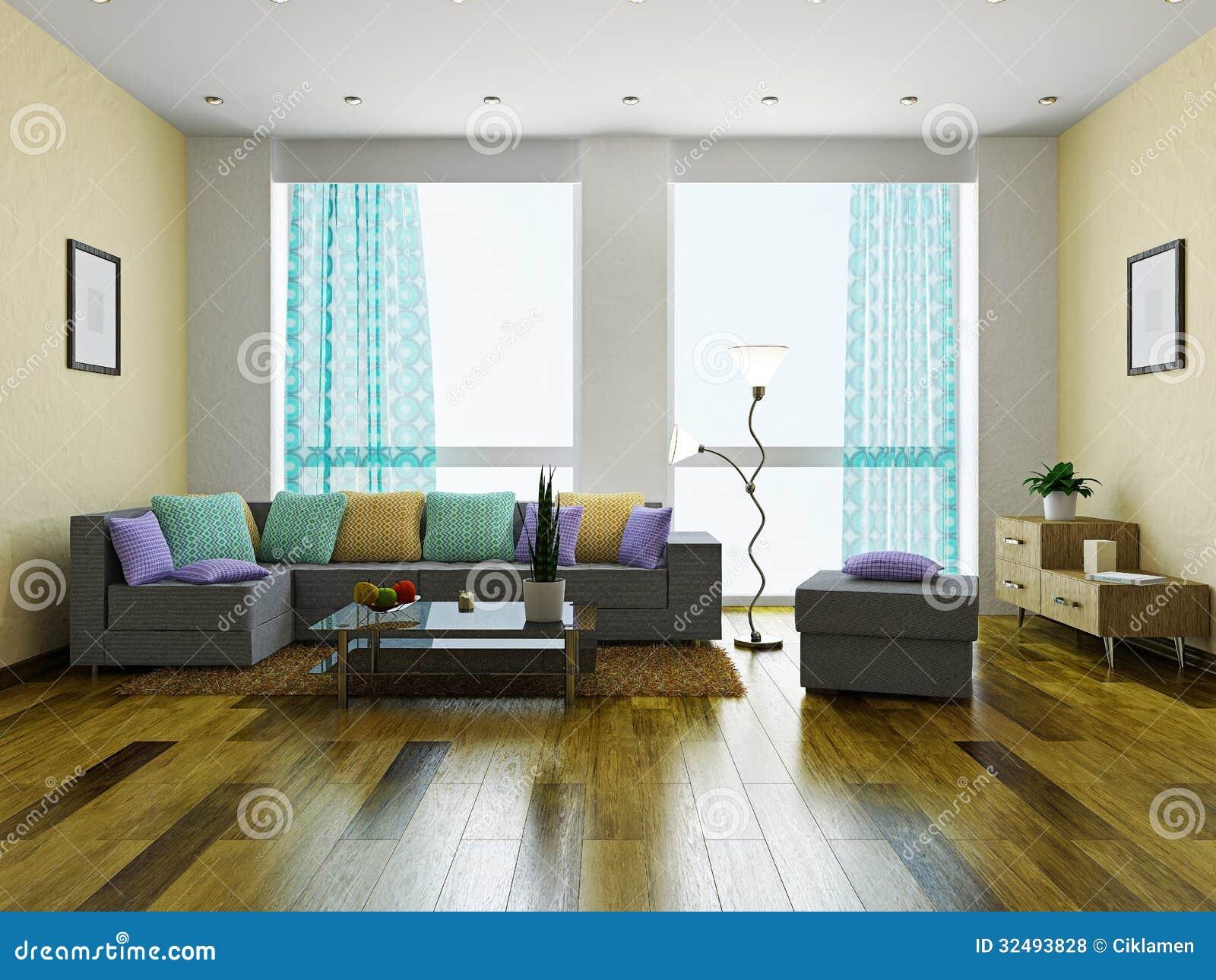 Sala de estar con muebles fotos de archivo libres de - Muebles de salita de estar ...