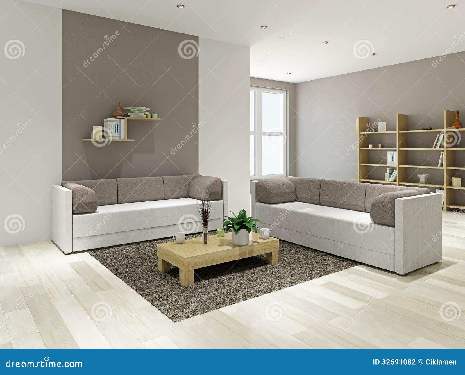 Sala de estar con muebles fotograf a de archivo imagen - Muebles salita de estar ...
