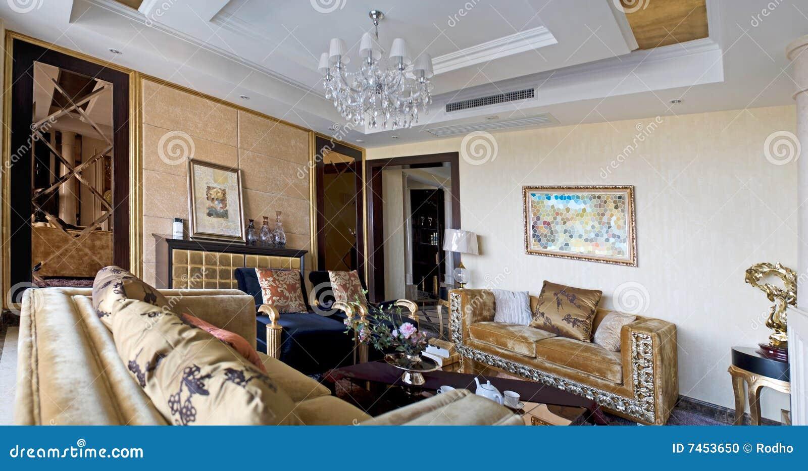 Sala De Estar Con Muebles Del Moderm Foto De Archivo Imagen De  # Muebles Panorama