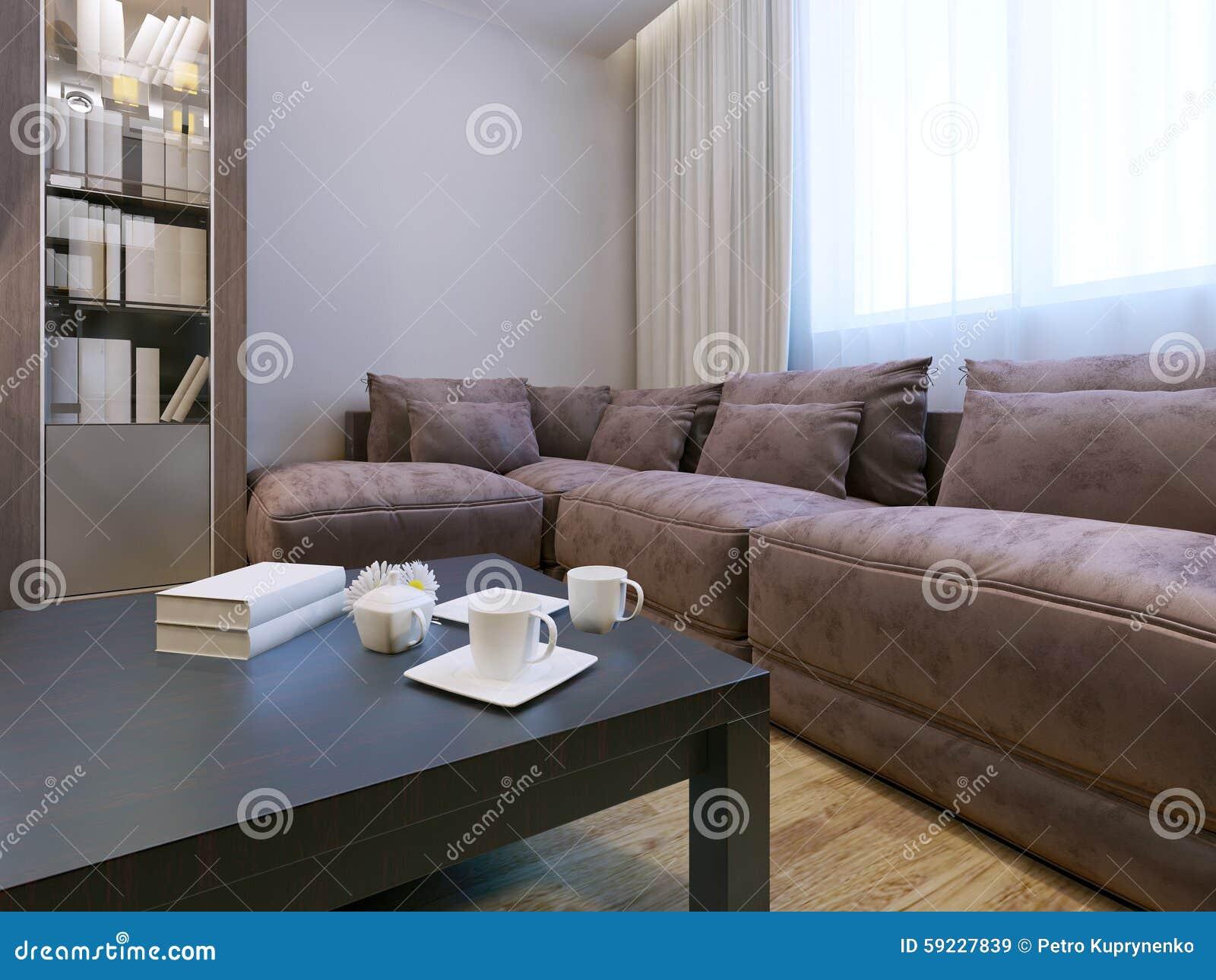 Sala de estar con muebles del terciopelo