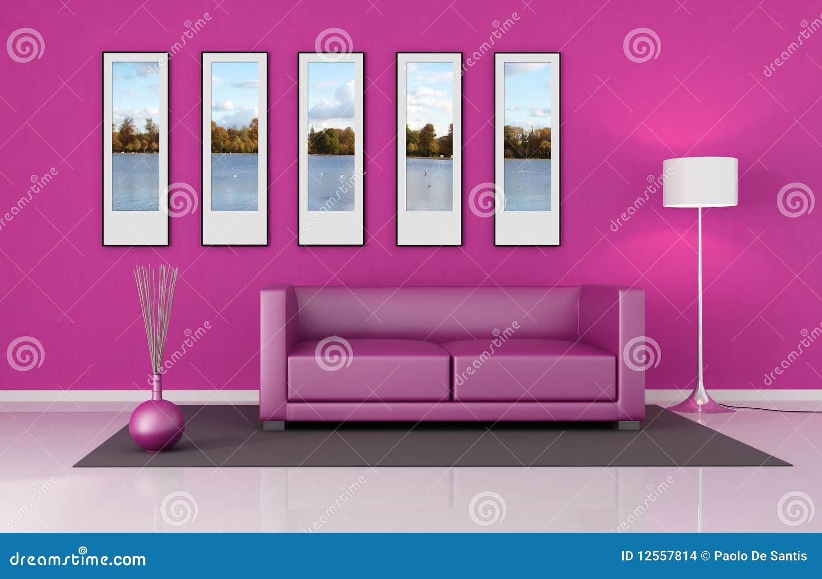 Sala De Estar Cor De Rosa ~ Sala De Estar Corderosa Imagens de Stock  Imagem 12557814