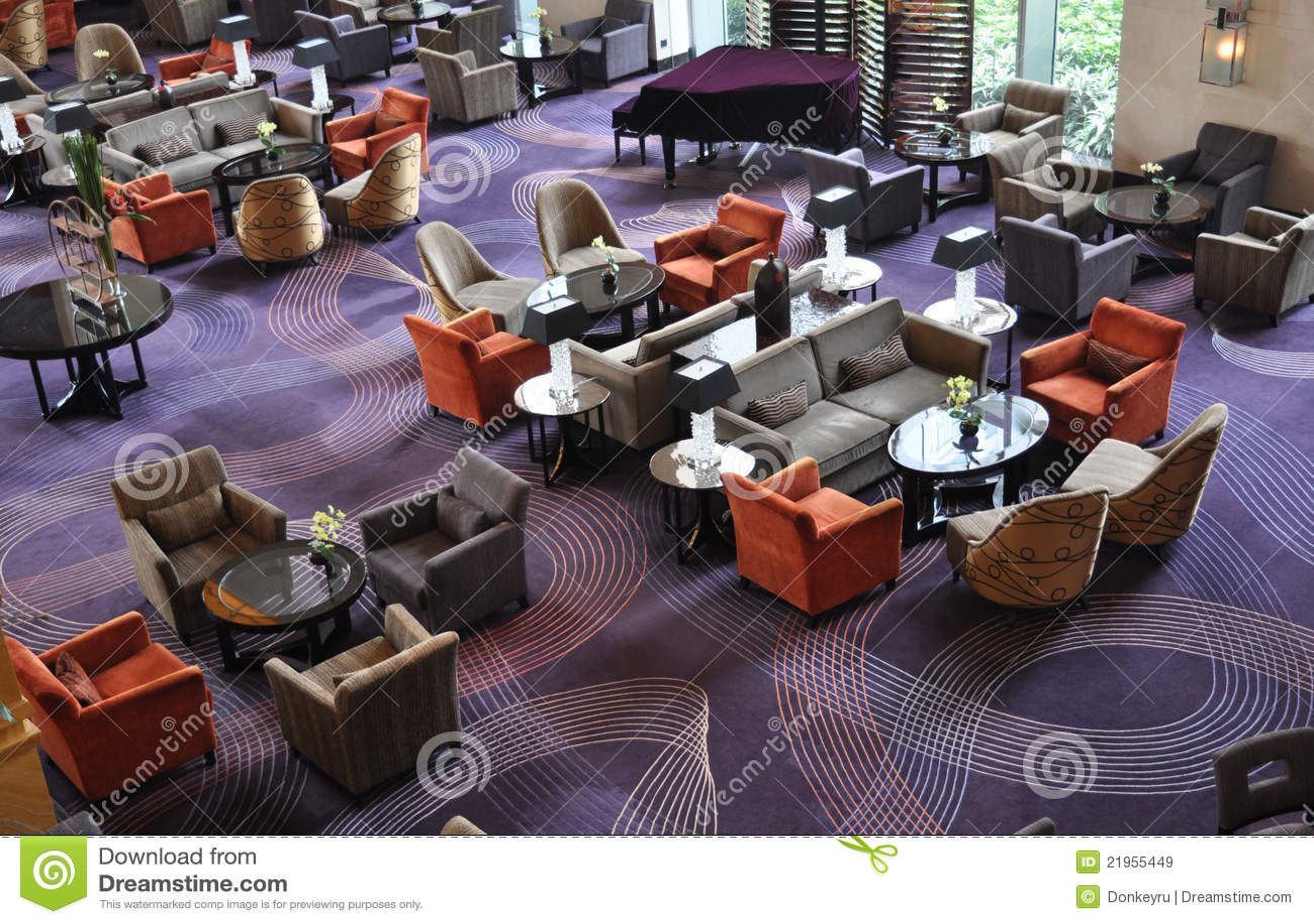 Sala de estar da barra do hotel de luxo imagens de stock for Sala de estar de un hotel