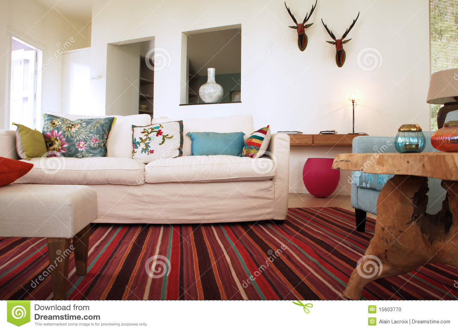 Sala de estar de lujo