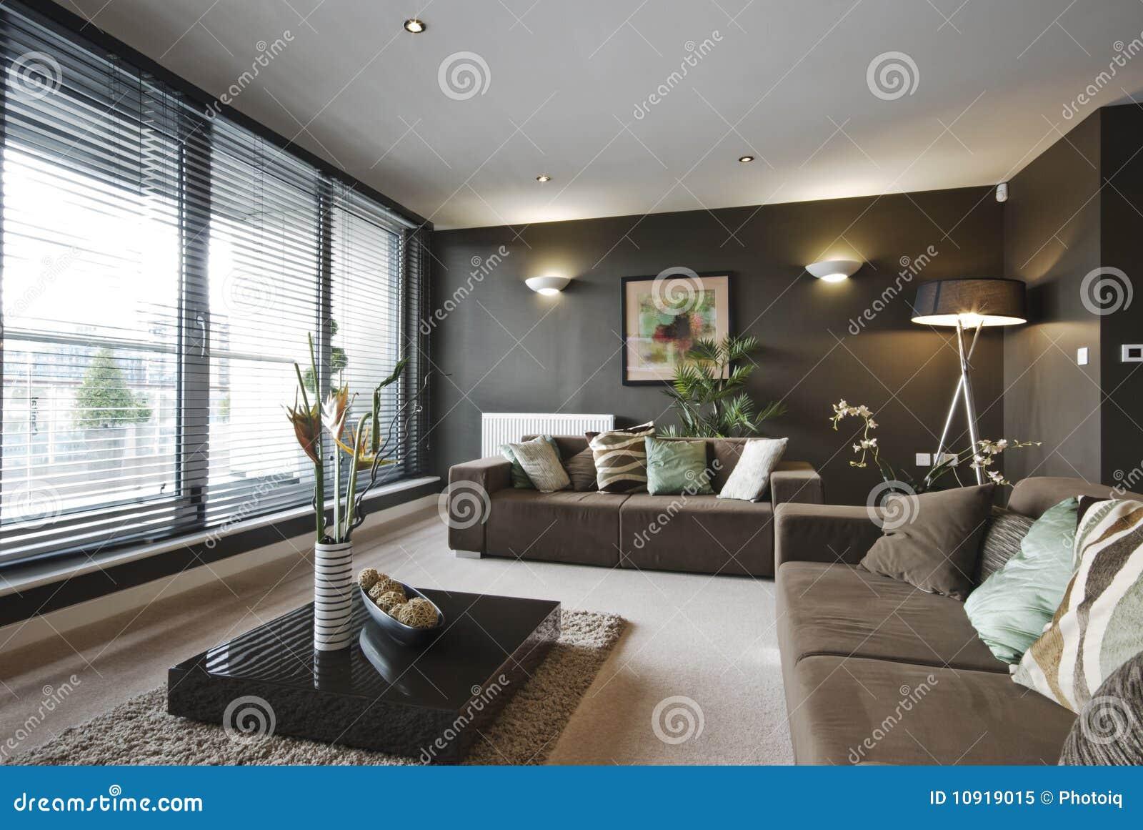 Sala de estar de lujo contemporánea