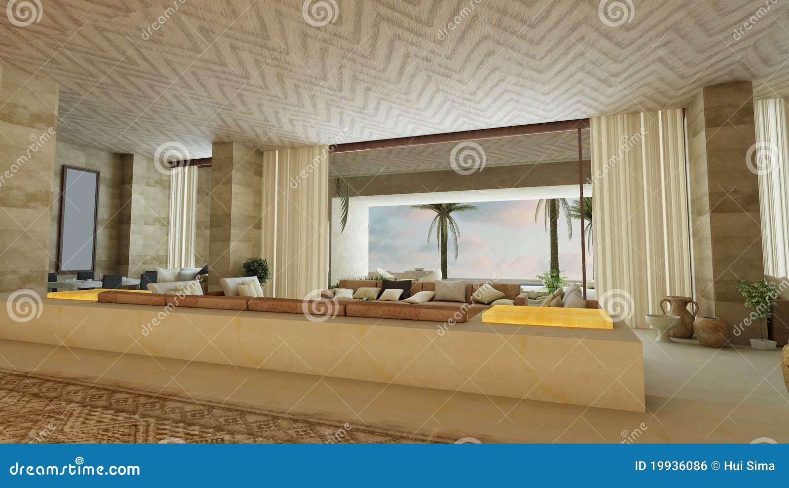 Sala de estar de lujo del estilo rabe imagen de archivo for Sala de estar estilo arabe