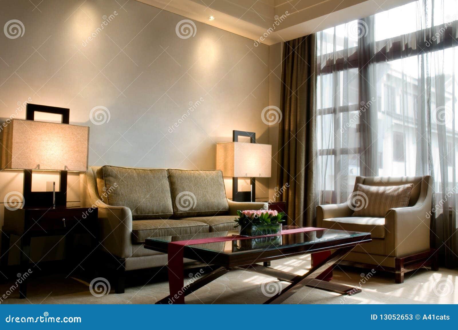 Sala de estar de una habitaci n de hotel de cinco for Sala de estar de un hotel