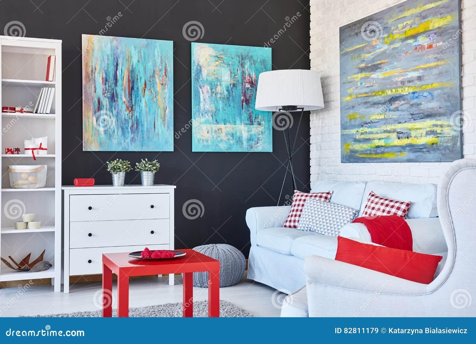 Sala de estar del arte
