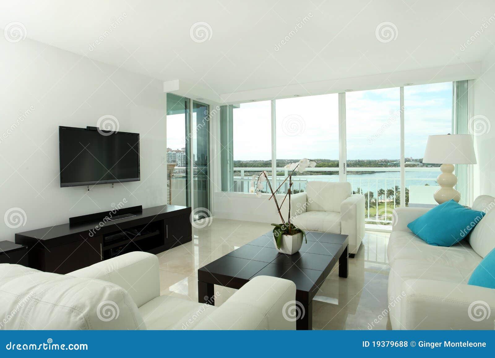 sala de estar del sur de la playa fotos de archivo libres