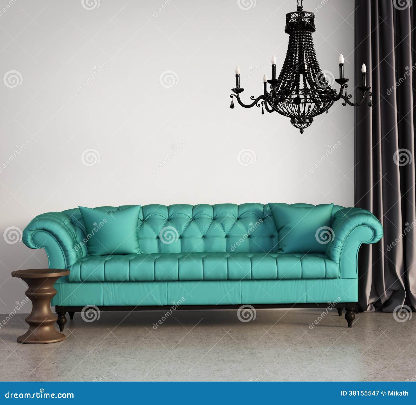 Sala de estar elegante cl sica del vintage fotograf a de for Sala de estar retro vintage