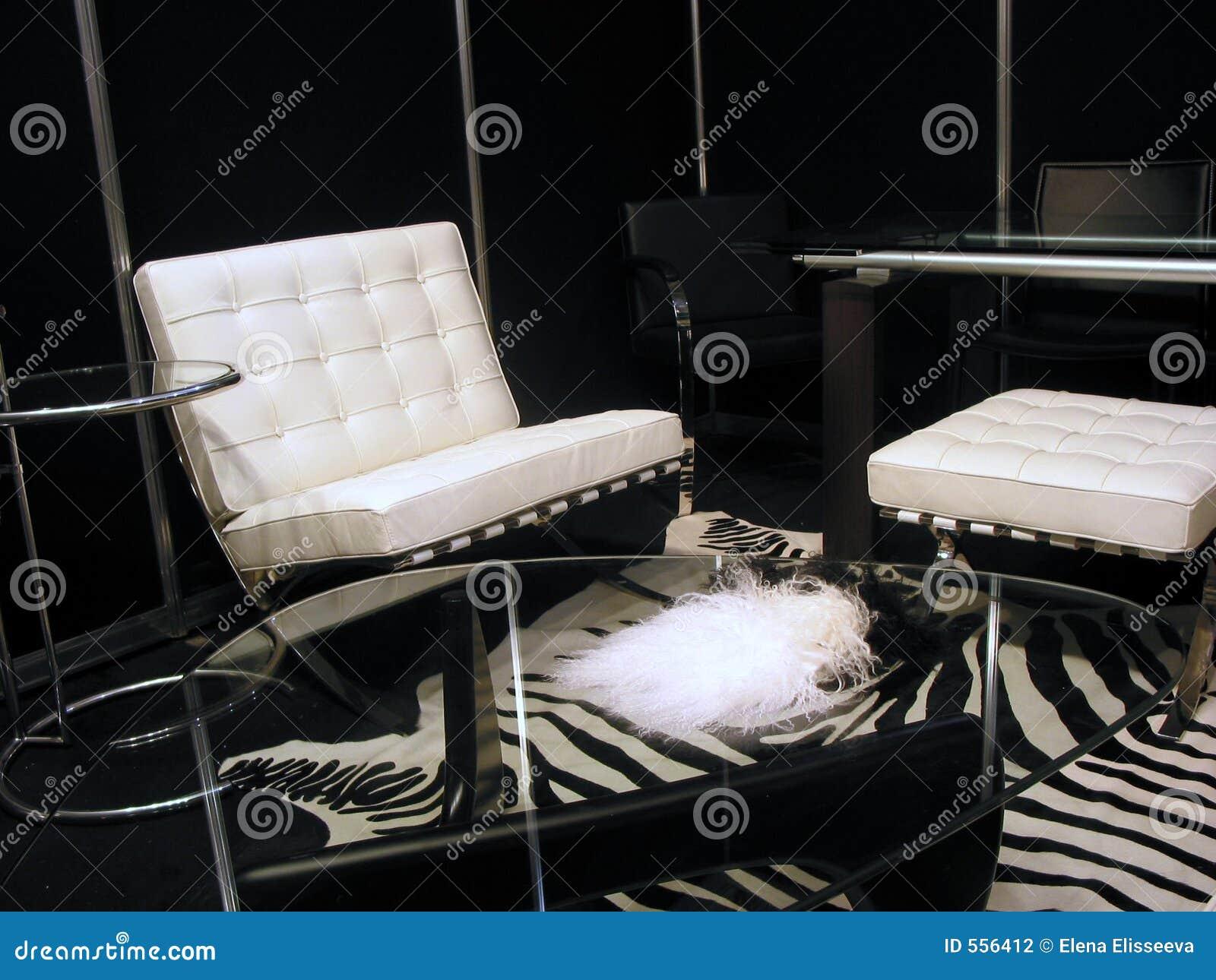 Sala de estar en blanco y negro fotograf a de archivo for Sala de estar blanco y negro
