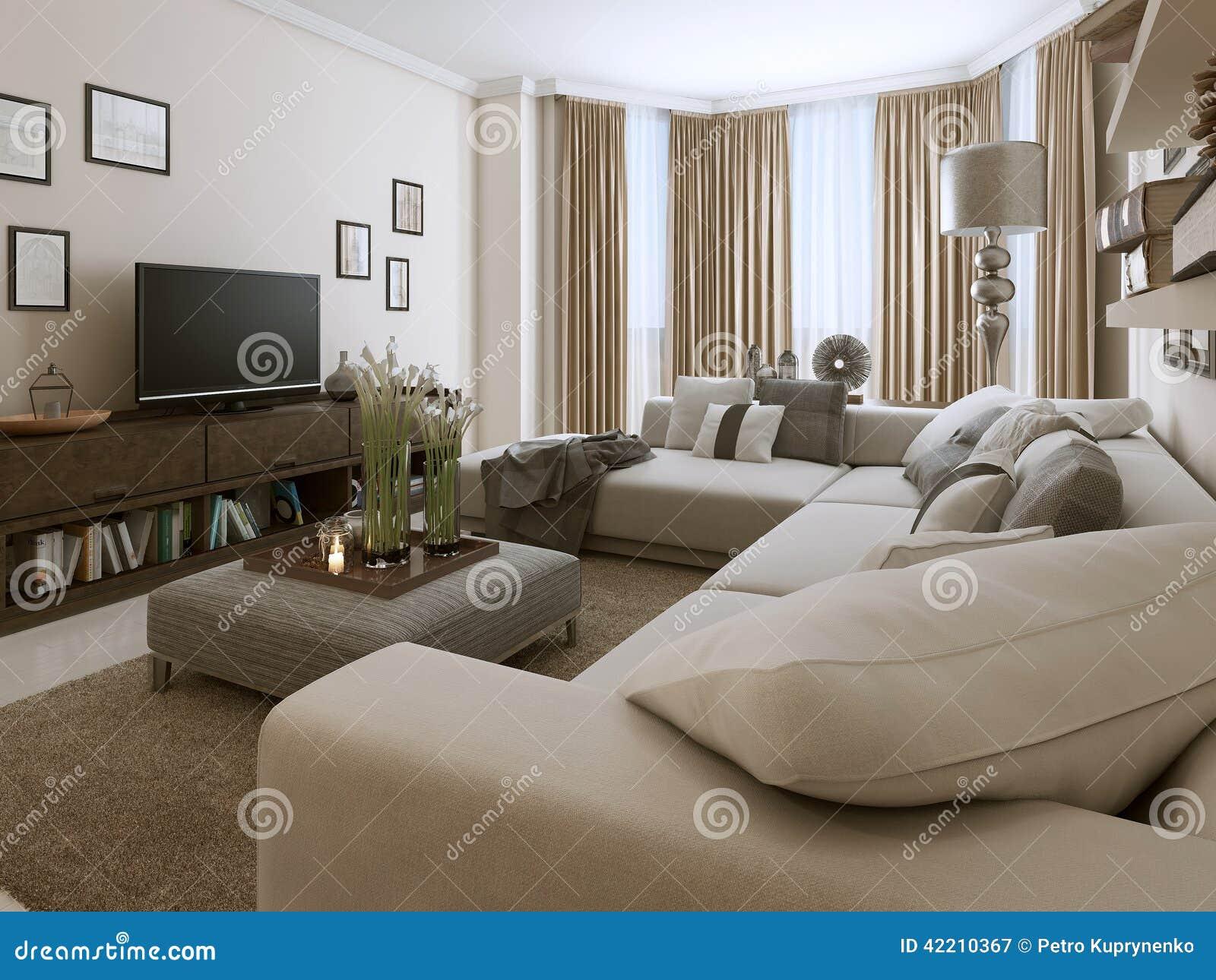 Sala de estar en estilo contempor neo stock de ilustraci n for Sala estilo contemporaneo
